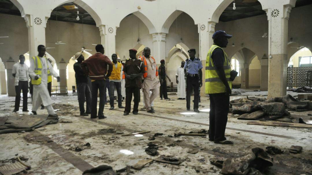 تصویر دو حمله انتحاری به مسجدی در نیجریه