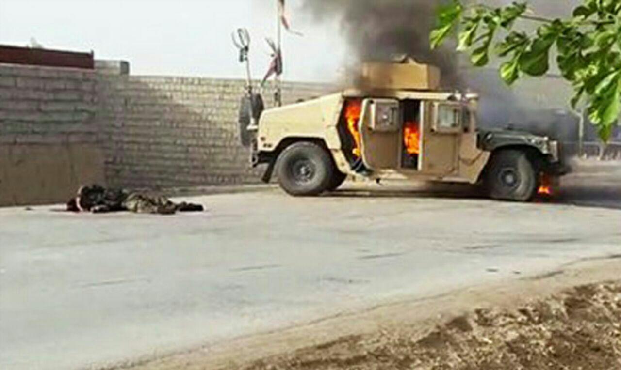 تصویر حمله سنی های تندروی طالبان به مرکز ولایت فراه