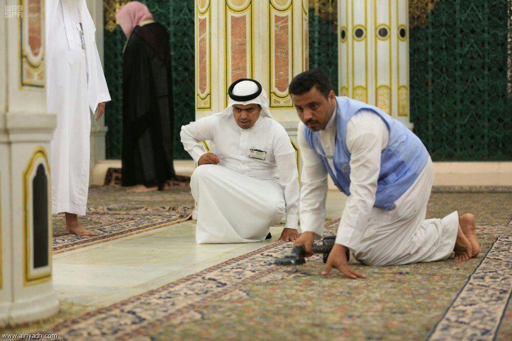 تصویر ایجاد تغییرات در مسجد النبی به مناسبت آغاز رمضان