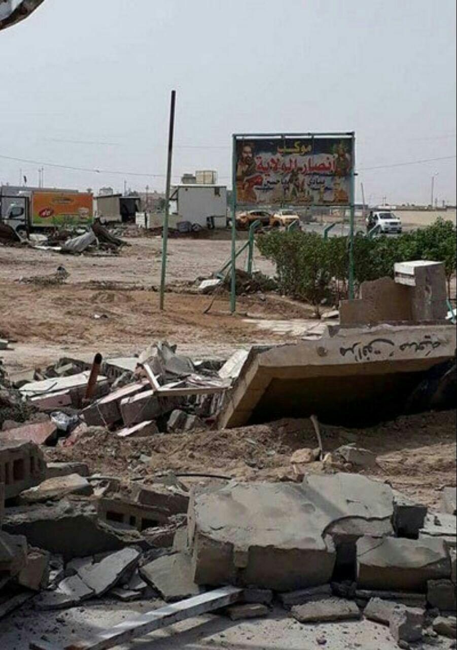 تصویر شهرداری ناصریه دو حسینیه واقع در شهر را تخریب کرد