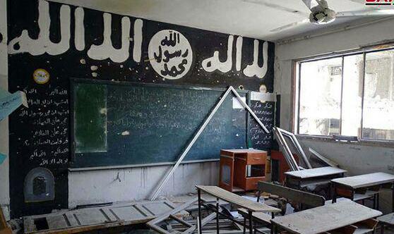 تصویر مدارسی که داعش آنها را مرکز آموزش تفکر تکفیری کرده بود