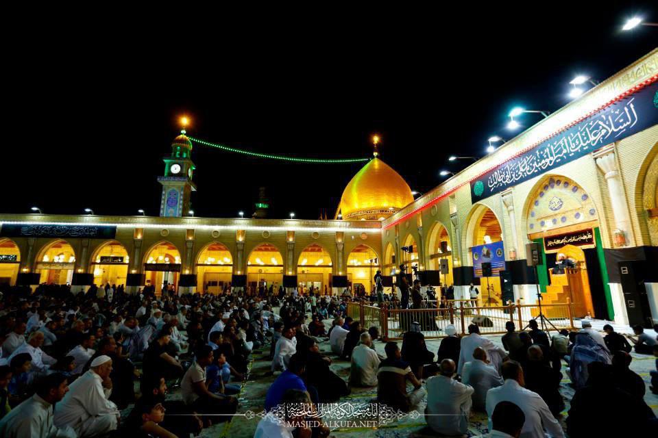 تصویر گزارش تصویری – عزاداری شب ضربت خوردن امیرالمومنین علیه السلام در مسجد کوفه ـ شهر مقدس نجف