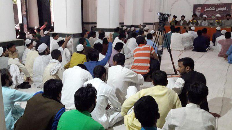 تصویر همایش «تربیت مبلّغ» در دفتر آیت الله العظمی شیرازی در کشور هندوستان