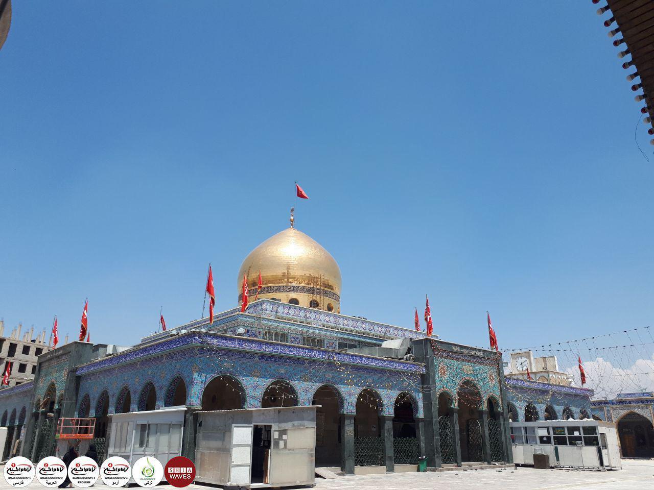 تصویر ادامه بازسازی های مرقد حضرت زینب کبری سلام الله علیها در سوریه