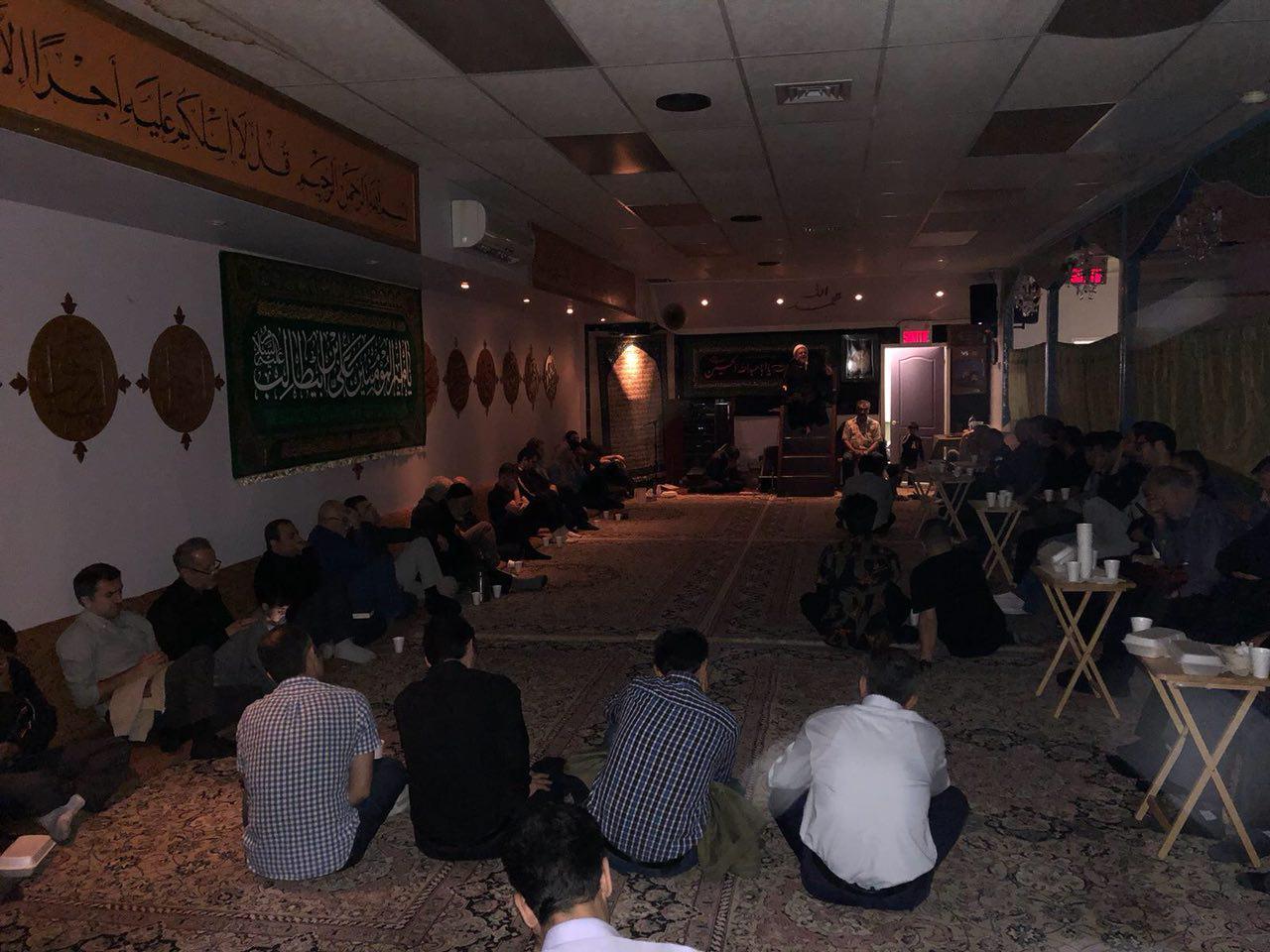 تصویر برگزاری مراسم احياء شبهای قدر توسط شیعیان کانادا