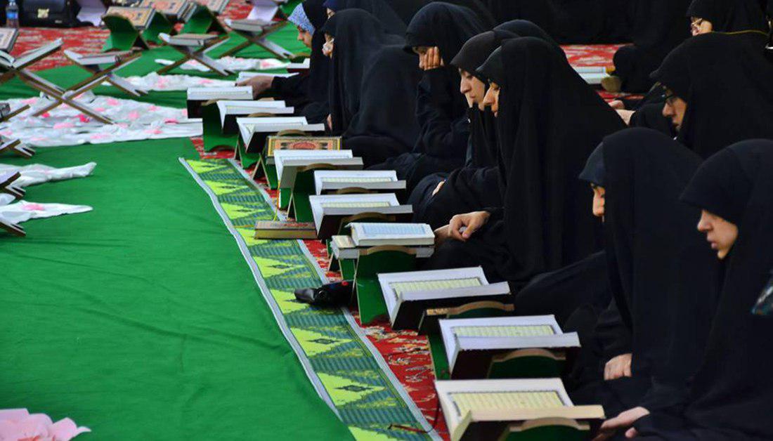 تصویر برگزاری دویست جلسه قرآنی ویژه بانوان در داخل و خارج عراق در ماه مبارک رمضان