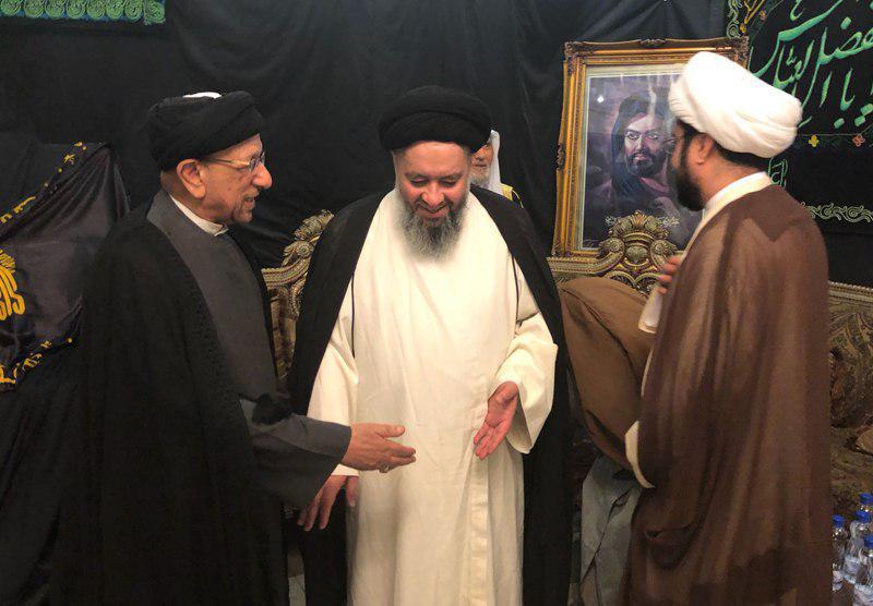 تصویر بخشی دیگر از برنامه های فرزند آیت الله العظمی شیرازی در کشور کویت