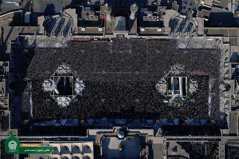 تصویر گزارش تصویری ـ برپایی نماز عید سعید فطر در حرم مطهر رضوی در شهر مقدس مشهد