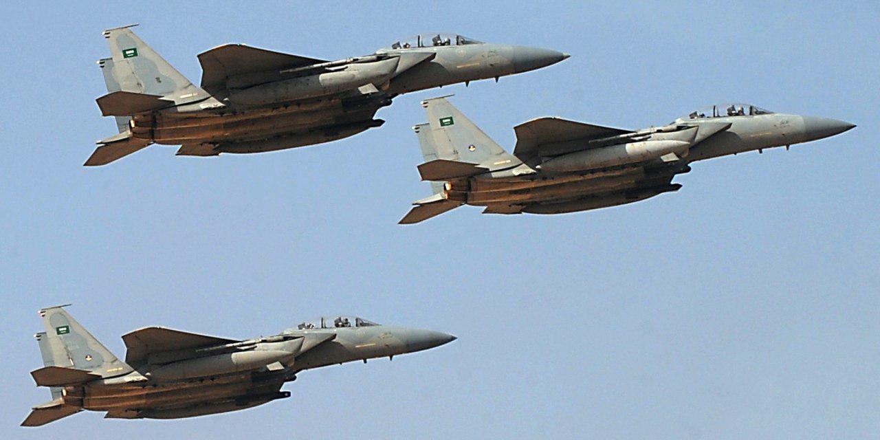 تصویر حملات جنگندههای سعودی به صعده یمن