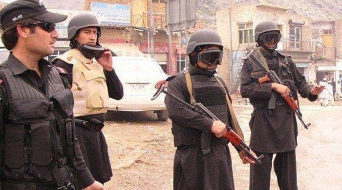 تصویر قتل ۳ نیروی امنیتی در شهر کویته پاکستان