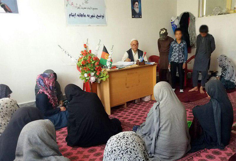 تصویر توزیع کمک های خیریه در شهر کابل