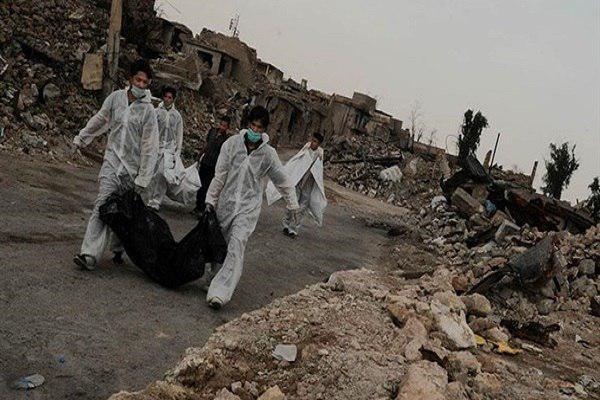 تصویر کشف جسد ۱۸۷ داعشی در جنوب موصل