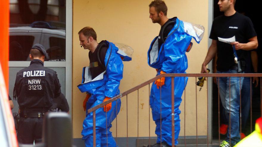 تصویر پلیس آلمان: حمله یک داعشی با بمب بیولوژیکی خنثی شد