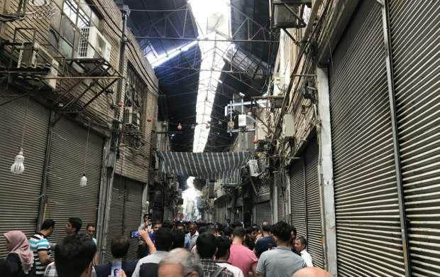 تصویر بازار تهران در اعتراض به گرانی ها تعطیل شد