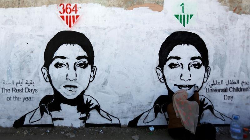 تصویر عربستان سعودی مسئول اصلی کشتار کودکان یمن