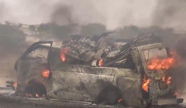 تصویر 20 شهید و مجروح در حمله جنگندههای سعودی به یک ون در یمن