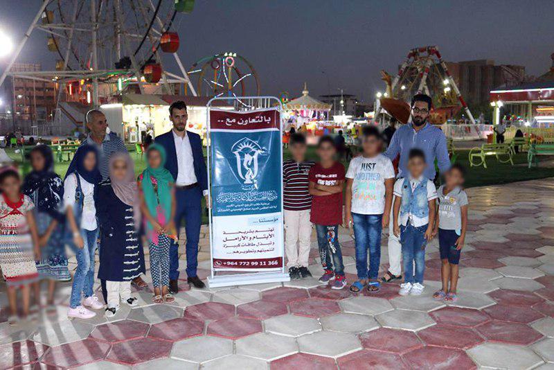 تصویر فعالیت دیگری از کمپین «یتیمی را شاد کن» در شهر بصره