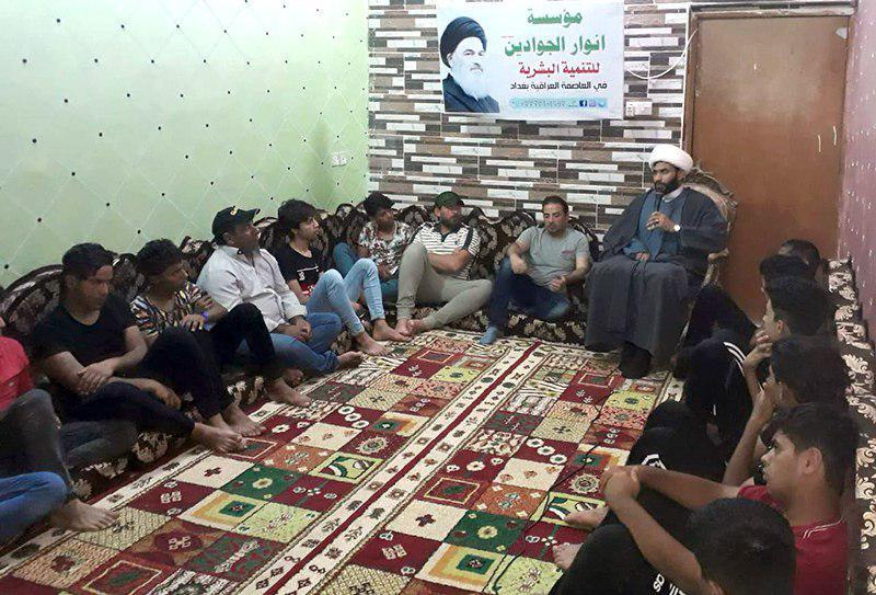 تصویر برگزاری نخستین همایش جوانان موسسه أنوار الجوادین علیهما السلام در شهر بغداد