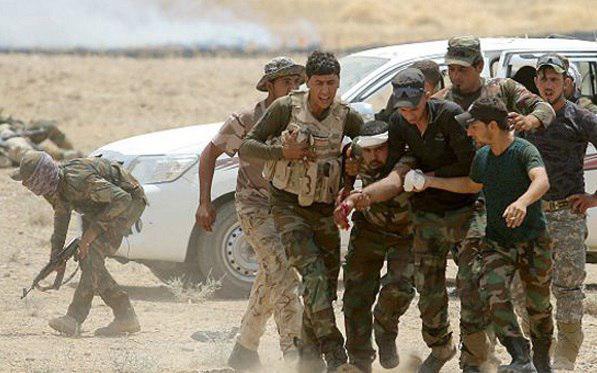 تصویر شهادت شماری از نیروهای عراقی در شمال این کشور