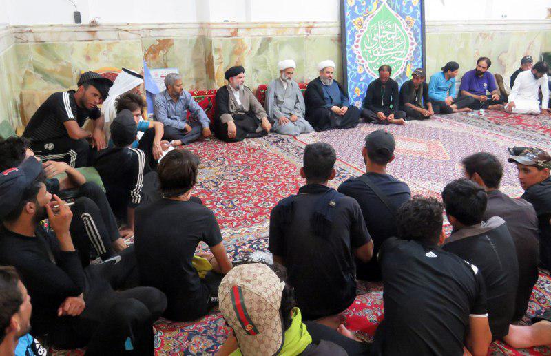 Photo of استقبال اعضای مجمع جهانی هیئات و مواکب حسینی از کاروان های زیارتی پیاده عراقی در شهر مقدس قم