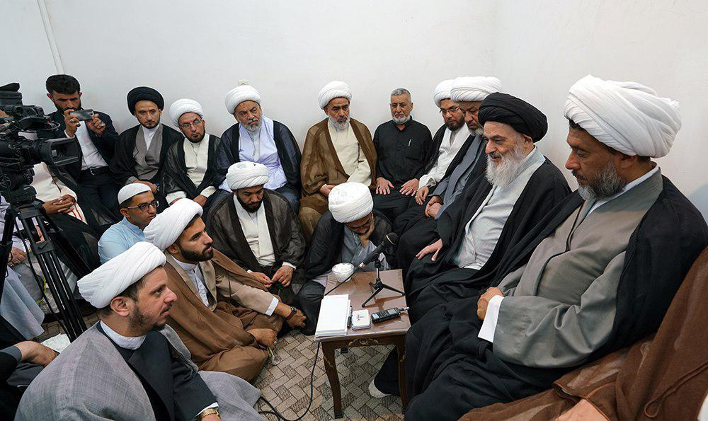 تصویر هشدار مرجعیت شیعه آیت الله العظمی شیرازی در باره ی تلاش دشمنان عراق برای گمراهی جوانان این کشور