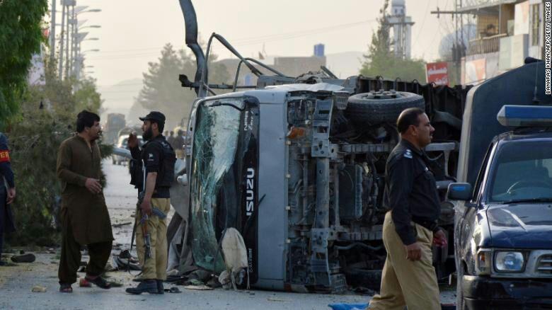 تصویر وقوع انفجار تروریستی در بلوچستان پاکستان