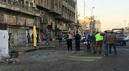 تصویر حمله افراد مسلح به یک مسجد در شمال بغداد