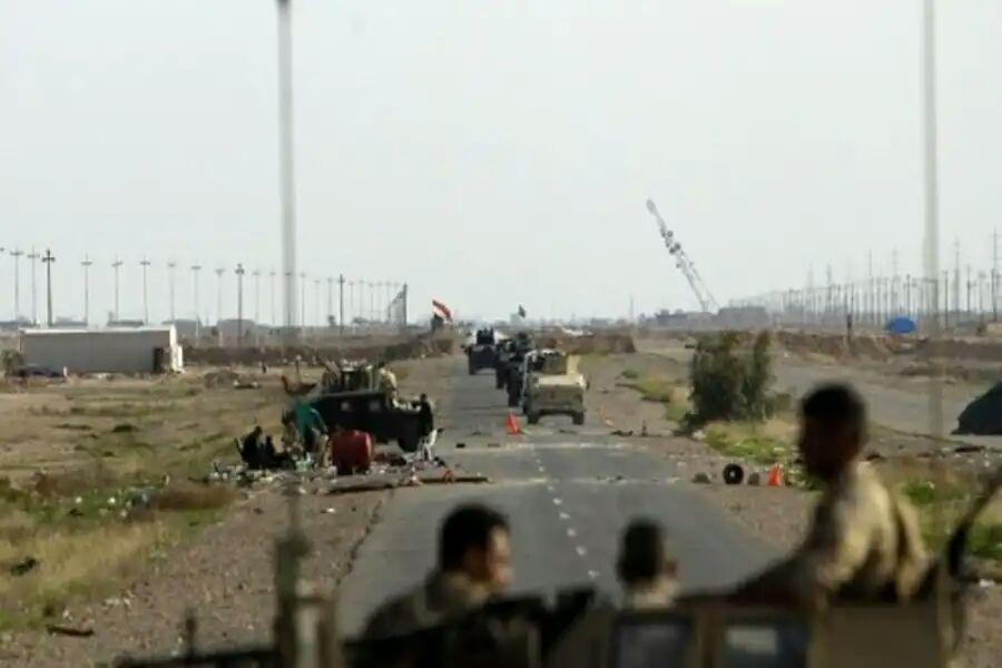 تصویر هلاکت 4 تروریست انتحاری در غرب شهر سامرا  در عراق