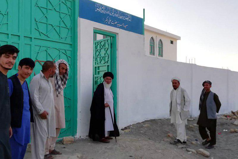 تصویر افتتاح مسجد و حسینیه حضرت علی اکبر علیه السلام در افغانستان
