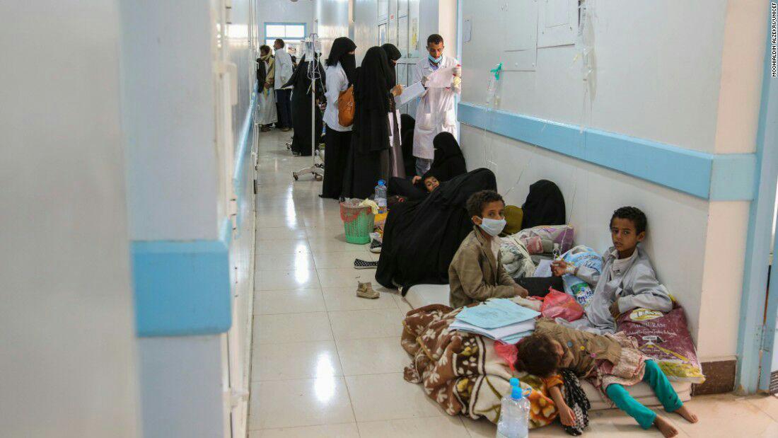 تصویر هشدار سازمان بهداشت جهانی درباره موج گسترده جدید وبا در یمن