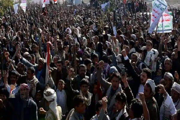 تصویر تشییع پیکر قربانیان جنایت «ضحیان» در یمن