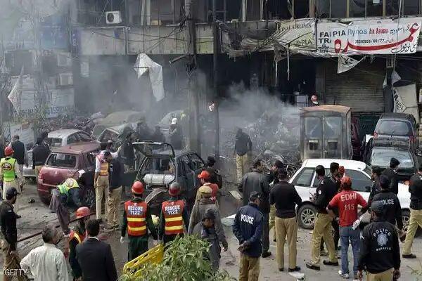 تصویر وقوع یک انفجار در غرب پاکستان
