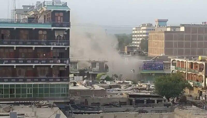 تصویر حمله انتحاری به یک موسسه آموزشی شیعیان در کابل
