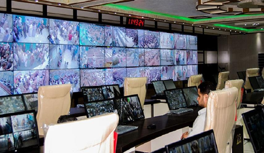 تصویر کنترل امنیت زائران عتبات عالیات در روز عرفه توسط عتبه حسینی