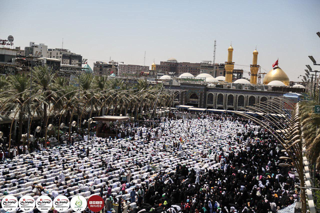 تصویر گزارش تصویری – حال و هوای شهر مقدس کربلا در روز عرفه روز زیارتی اباعبدالله الحسین علیه السلام