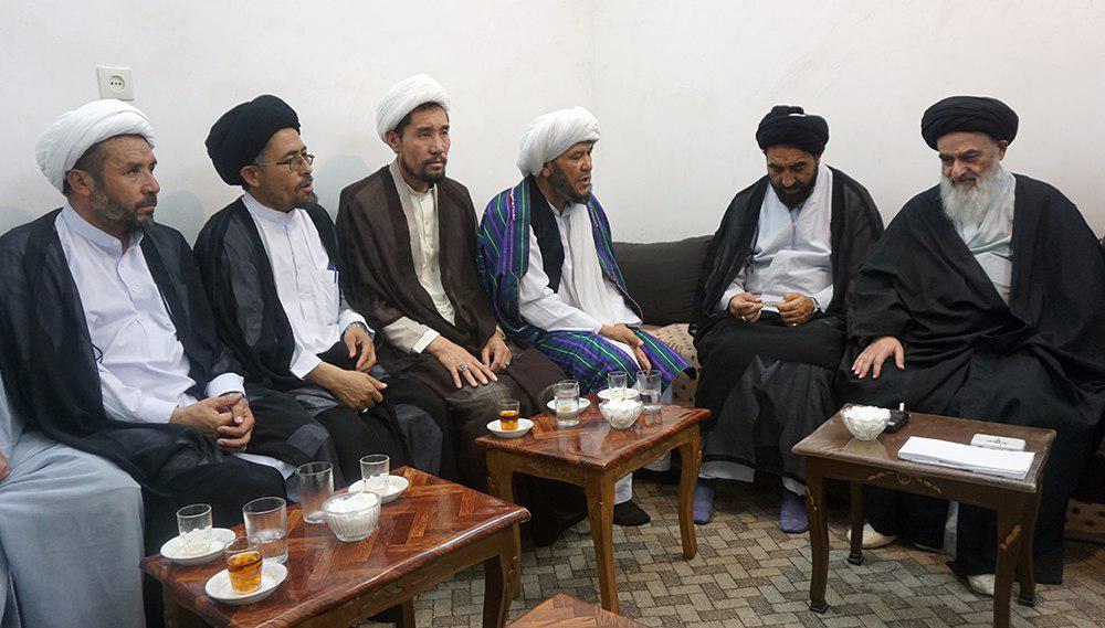 تصویر دیدار خطیبان و ائمه مساجد افغانستان با مرجعیت شیعه