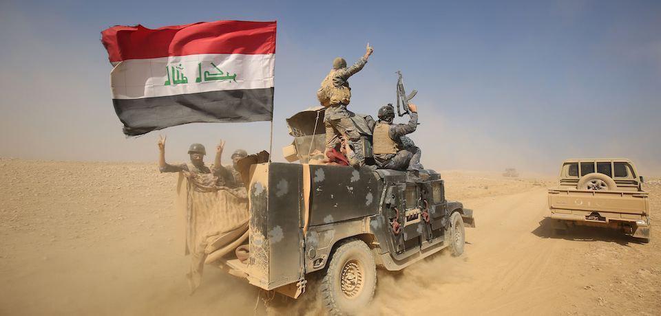 تصویر ورود عناصر داعش از غرب الانبار و مناطق مرزی سوریه به خاک عراق