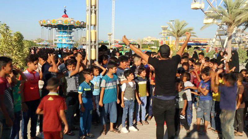تصویر برپایی دومین گردش تفریحی ایتام از سوی موسسه امام حسین علیه السلام در شهر مقدس کربلا