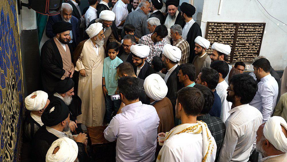 تصویر گزارش تصویری – جشن بزرگ عید الله الاکبر، غدیر خم در بیت آیت الله العظمی شیرازی در شهر مقدس قم