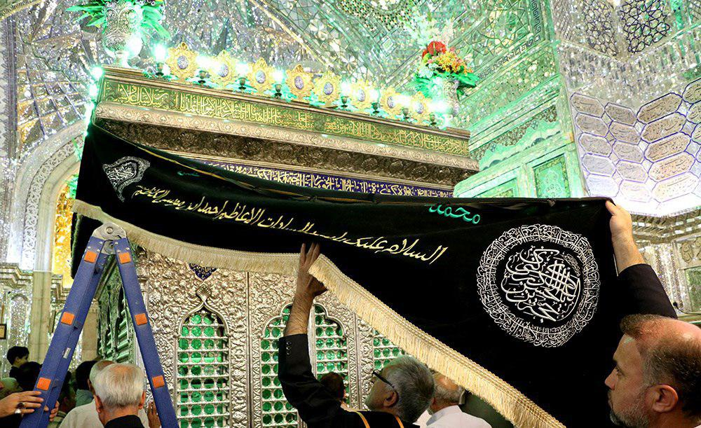تصویر گزارش تصویری ـ سیاه پوشی آستان مقدس شاه چراغ در شیراز به مناسبت فرا رسیدن ماه محرم