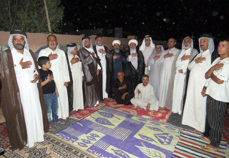 تصویر فعالیت های مجمع جهانی هیئات و مواکب حسینی در شهر سوق الشیوخ کشور عراق