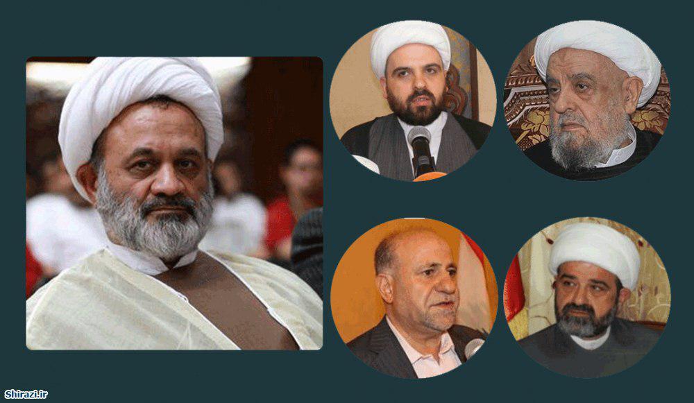 تصویر دیدار نماینده آیت الله العظمی شیرازی با شخصیت های سیاسی و دینی کشور لبنان
