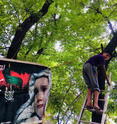تصویر تجلی عشق به امام حسین در نوجوانان کشمیر