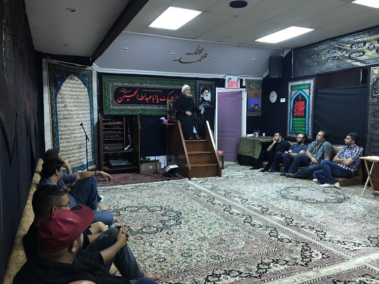 تصویر گزارش تصویری ـ عزاداری شیعیان حسینی در محرم در مرکز جهانی آیت الله العظمی شیرازی در کانادا ـ شب هشتم