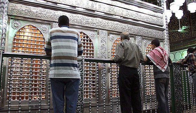 تصویر بسته شدن مسجد راس الحسین در قاهره به روی شیعیان
