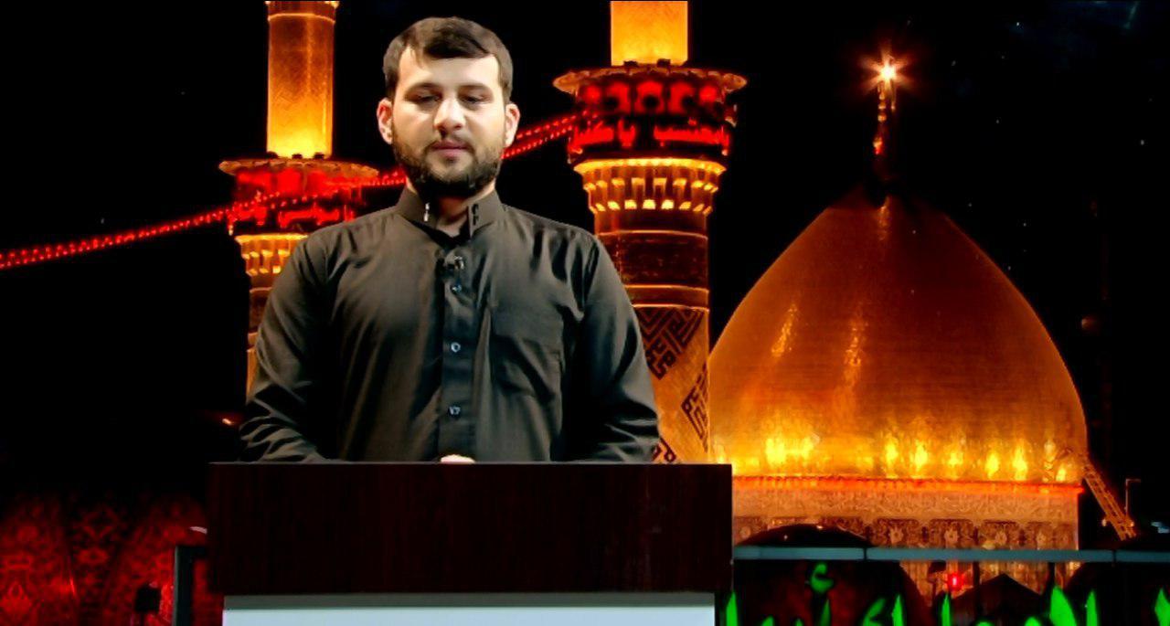 تصویر پخش برنامه اینجا کربلا از شبکه ترکی زبان الزهرا سلام الله علیها
