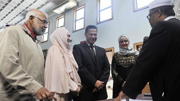 تصویر نخستین ازدواج اسلامی قانونی در پایتخت آفریقای جنوبی برگزار شد