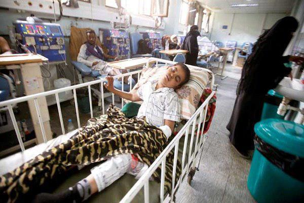 تصویر افزایش سه برابری مبتلایان به وبا در «الحدیده» یمن
