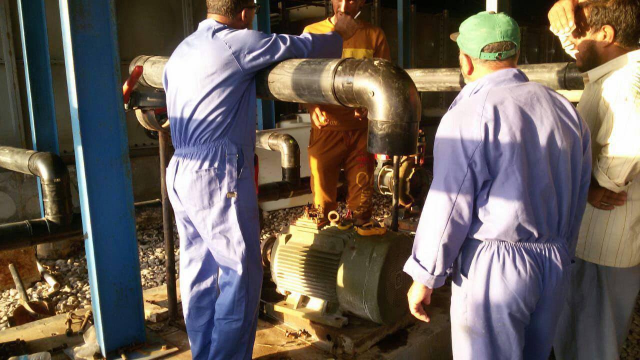 تصویر راه اندازی دومین ایستگاه آب رسانی در بضره توسط آستان مقدس حسینی