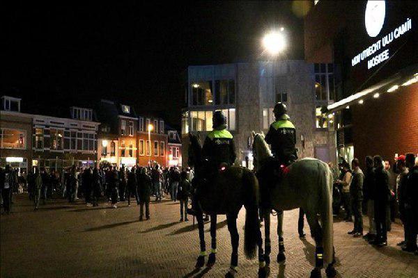 تصویر نیمه تمام ماندن تظاهرات ضداسلامی در هلند